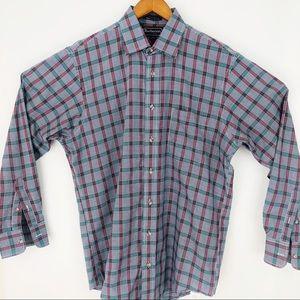Men Burberry longsleeve plaid button-down